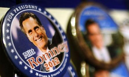 mitt romney campaign badges iowa
