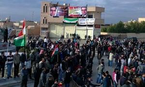 Syrian demonstrators