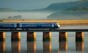 A train in Arnside, Cumbria