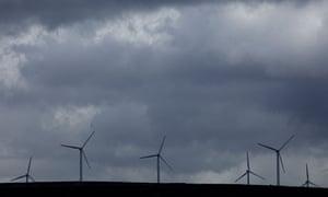 Wind turbines in Rossendale