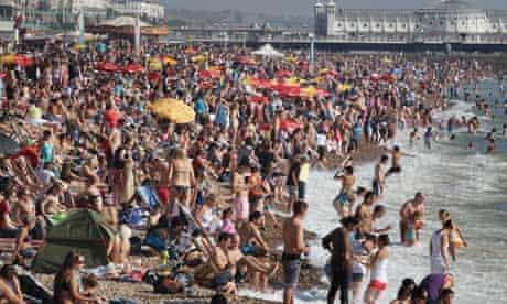 Brighton beach in October