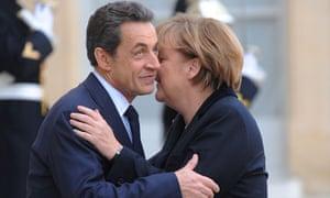 France - German Chancelor Angela Merkel Meets with French President Nicolas Sarkozy