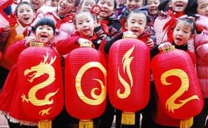 New Year celebrations:  Jiujiang,  Jiangxi Province, China