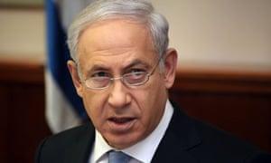 The Israeli prime minister, Benjamin Netanyahu