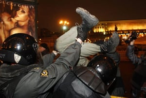 russia elections: protest rally by an opposition group called Another Russia in  Moscow