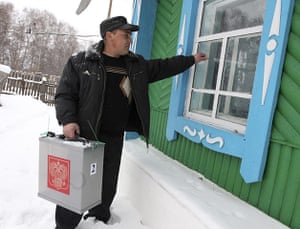 russia elections: parliamentary elections in the village of Prutskoi in Altai, Russia
