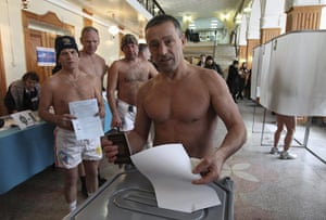 russia elections: parliamentary election in Barnaul, capital of Altai region