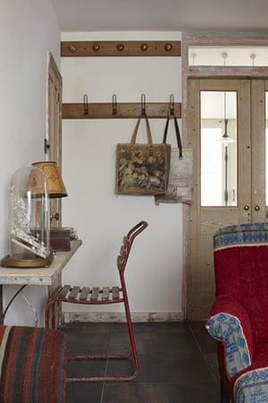 Brighton house: desk and hooks