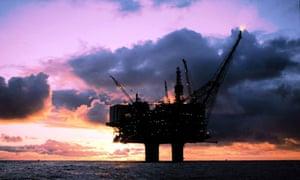 Oil platform off the Norwegian coast