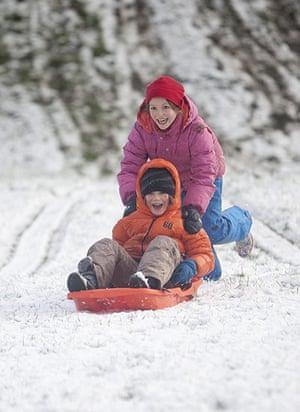First snow in the UK : First snow in the UK