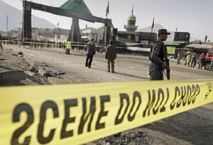 kabul bombing: police officer