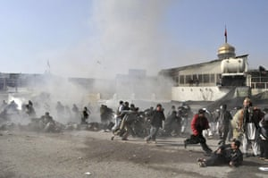 Kabul bombing: seconds after the blast