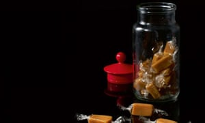 Salted butter caramels wrapped in edible cellophane