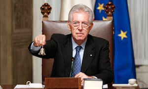 Newly appointed Italian prime minister Mario Monti