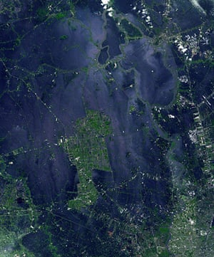 Satellite Eye on Earth: The flooding from the Chao Phraya River