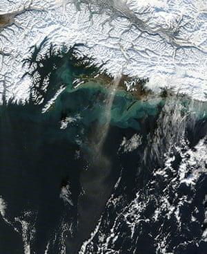 Satellite Eye on Earth: Dust blew over the Gulf of Alaska