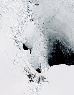 Satellite Eye on Earth: A polynya off the coast of Antarctica