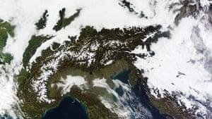 Satellite Eye on Earth: A massive cloudbank sprawled over central Europe