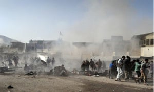 Suicide bombers attack a Shia procession in Kabul, Afghanistan