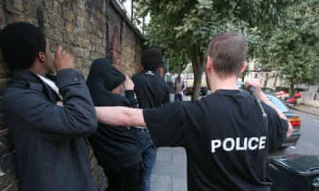 Police stop and search young people in London