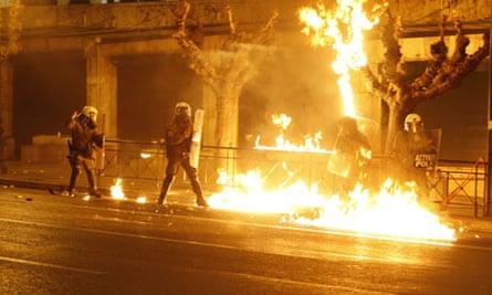 Violent protests in Athens