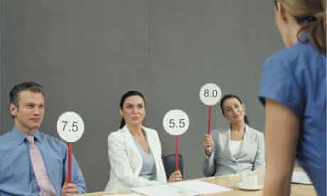Job interview score cards