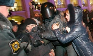 Russian election protests in St Petersburg