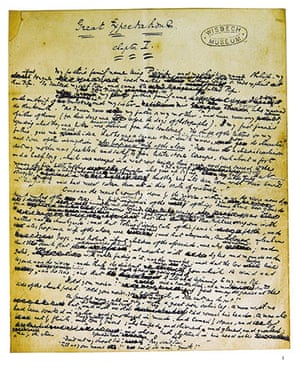 Great Expectations: A page from the manuscript of Great Expectations