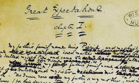 A page from the manuscript of Great Expectations