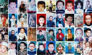 Images of children, mostly boys, who are thought to have been stolen by trafficking gangs in China