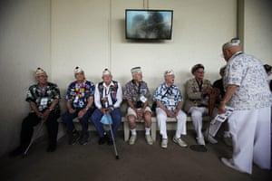 Pearl Harbor memorial: Survivors at the Arizona memorial