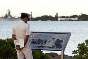 Pearl Harbor memorial: Seishi Goto at the Arizona Memorial