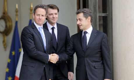 Sarkozy Geithner Baroin
