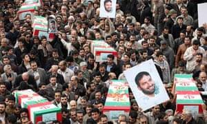 Iranians honour dead Revolutionary Guards commander