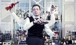 Alexis Petridis at the Connaught bar