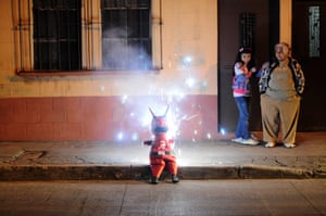 24 hours in pictures: 'Devils Burning' ceremony in Guatemala