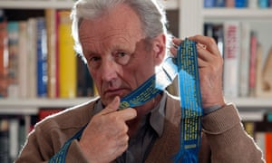 Colin Thubron with a Russian Prayer ribbon