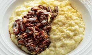 Brown sugar rice pudding with toffee pecans