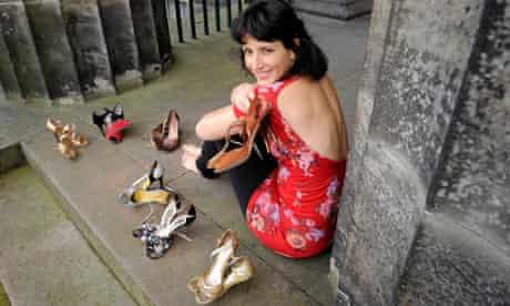 Kapka Kassabova with her tango shoes