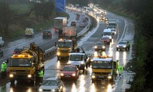 M9 motorway near Stirling