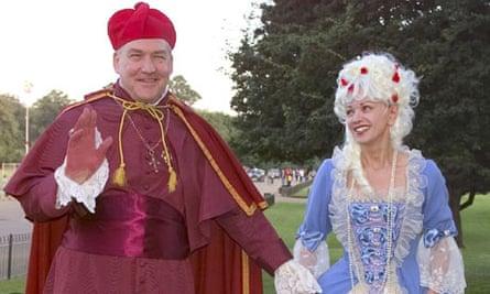 Conrad Black and Barbara Amiel at a fancy dress party, 2000.