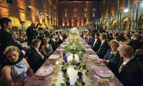 The Nobel banquet at the Stockholm Town Hall
