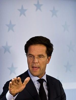 European Union Summit: Dutch prime minister Mark Rutte gives a press conference