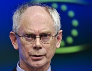 European Union Summit: European Council president Herman Van Rompuy