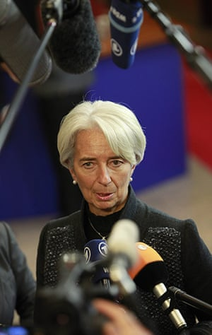 European Union Summit: International Monetary Fund (IMF) managing director Christine Lagarde