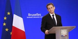 European Union Summit: French President Nicolas Sarkozy