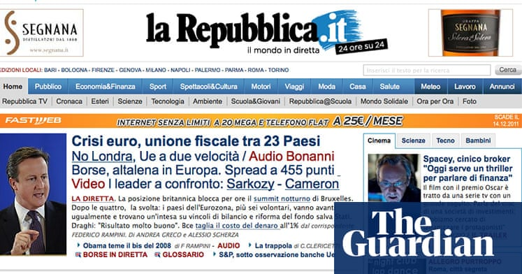 d13bf1c9e4 Eurozone deal: news website front pages - in pictures | Business | The  Guardian
