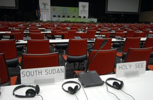 COP17 in Durban: openning session of the Conference of the Parties 17