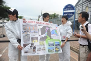 COP17 in Durban: Japanese NGOs protest again nuclear energy