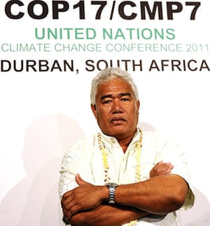 COP17 in Durban: Hon Foua Toloa, head of Government of Tokelau island